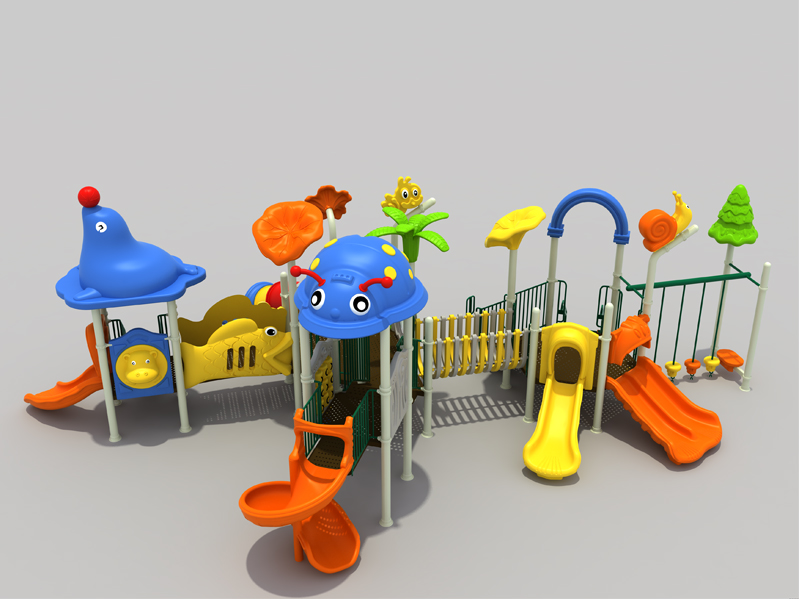 children park animal  play slide